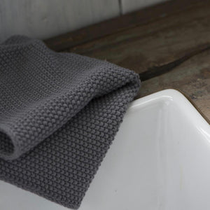 Grey Knitted Dish Cloth