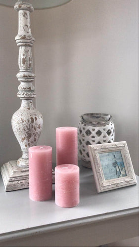 Dusty Pink Candles