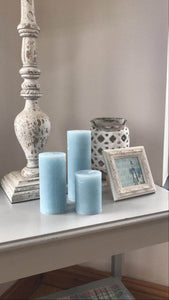 Winter Blue Candles