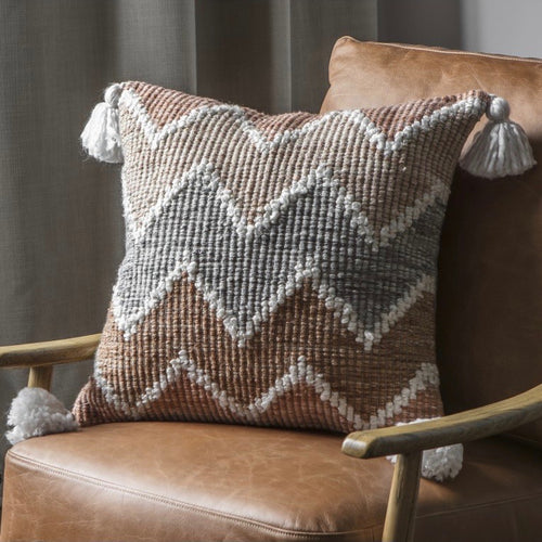 Grey Ochre Cushion