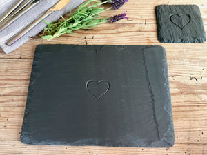 Heart Engraved Country Style Placemats