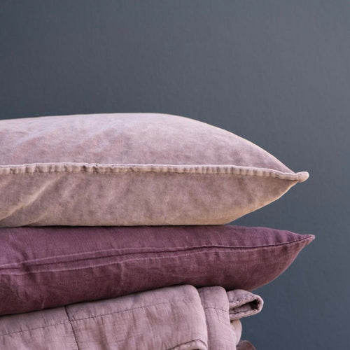Malva Pink Velvet Cushion