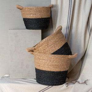 Natural and Charcoal Seagrass Baskets