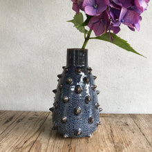 Load image into Gallery viewer, Blue Spiky Vase