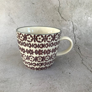 Begw Purple Floral Mug