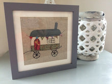 Load image into Gallery viewer, Handmade textiles picture of a Shepherd's Hut
