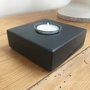 Tealight holder from polished Welsh slate