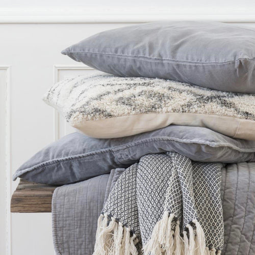 Velvet Smokey Grey Cushion