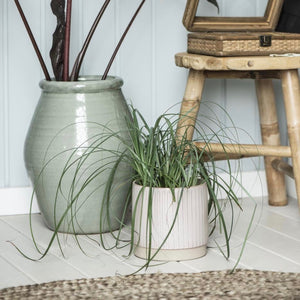 Stoneware plant pot in dusky pink
