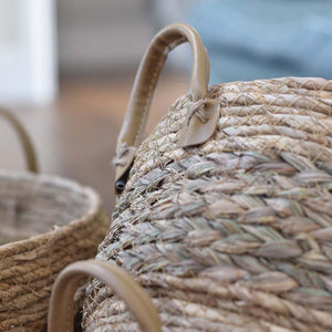 Seagrass Natural Baskets With Handles