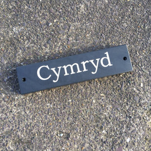Welsh Slate Personalised House Sign