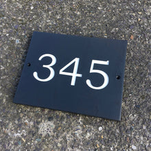 Load image into Gallery viewer, Welsh Slate Door Number
