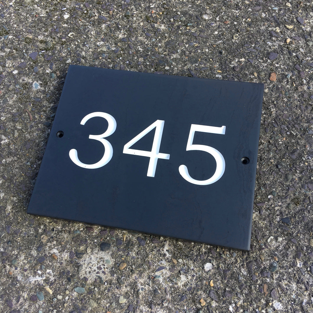 Welsh Slate Door Number
