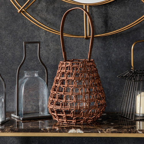 Wire Basket Candle Holder