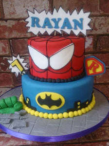 2 Tier Superhero cake