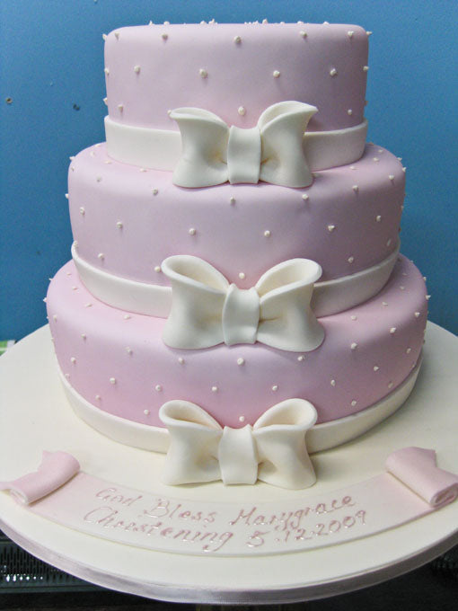 3 Tier Bow cake