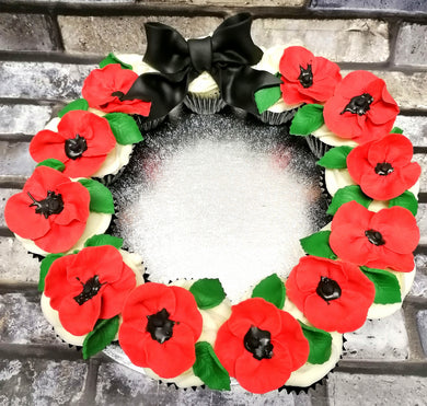 Remembrance day cupcake wreath or cupcakes