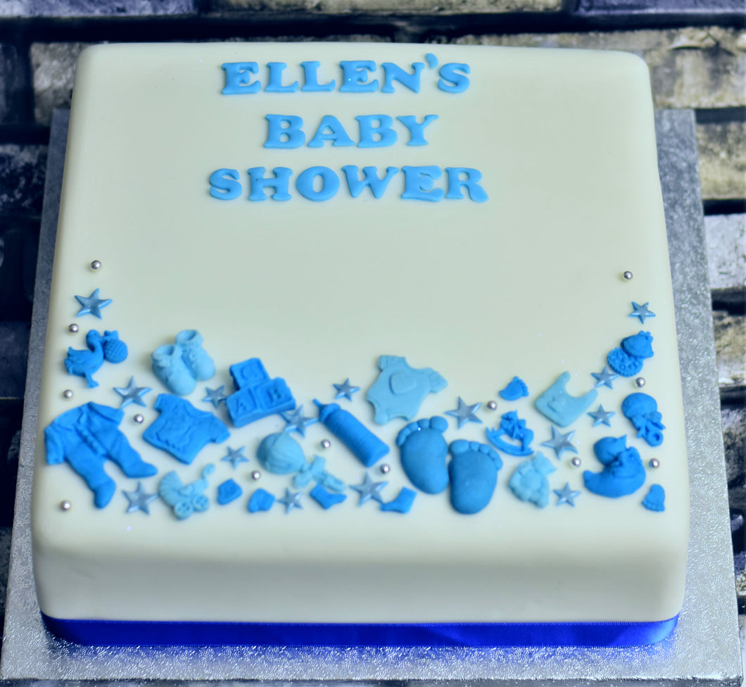 Baby shower Square cake