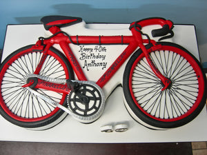 Bicycle shaped 2D cake