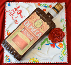 Tequila mexican theme bottle cake