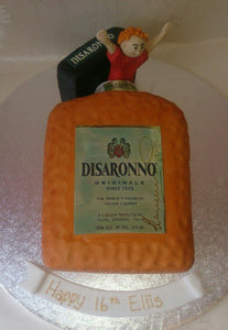 Disaronno bottle cake