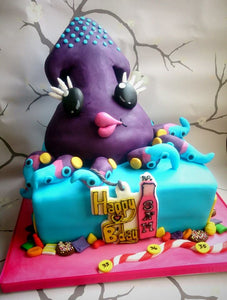 Candy crush octopus cake