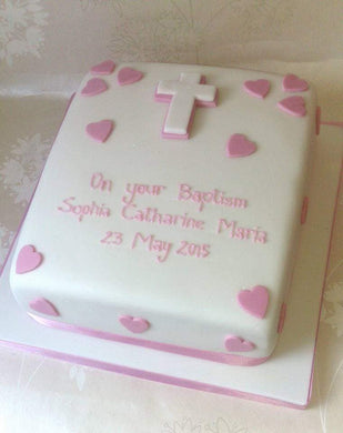 Basic Christening / Baptism or Holy Communion cake