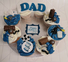 Load image into Gallery viewer, Dad cupcakes wreath