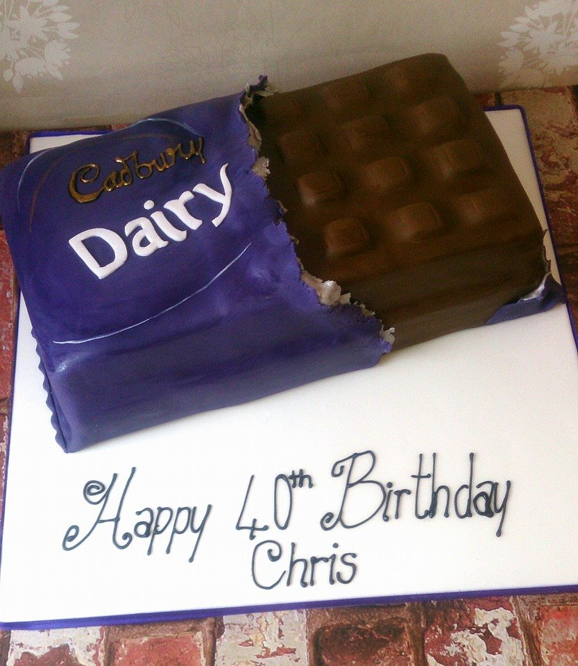 Cadbury's Diary milk bar cake