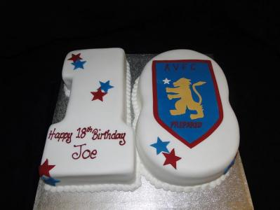 Football badge number cake