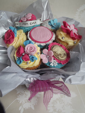 Personalised cupcake bouquet