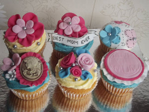 Best mom ever mothers day/personalised cupcakes