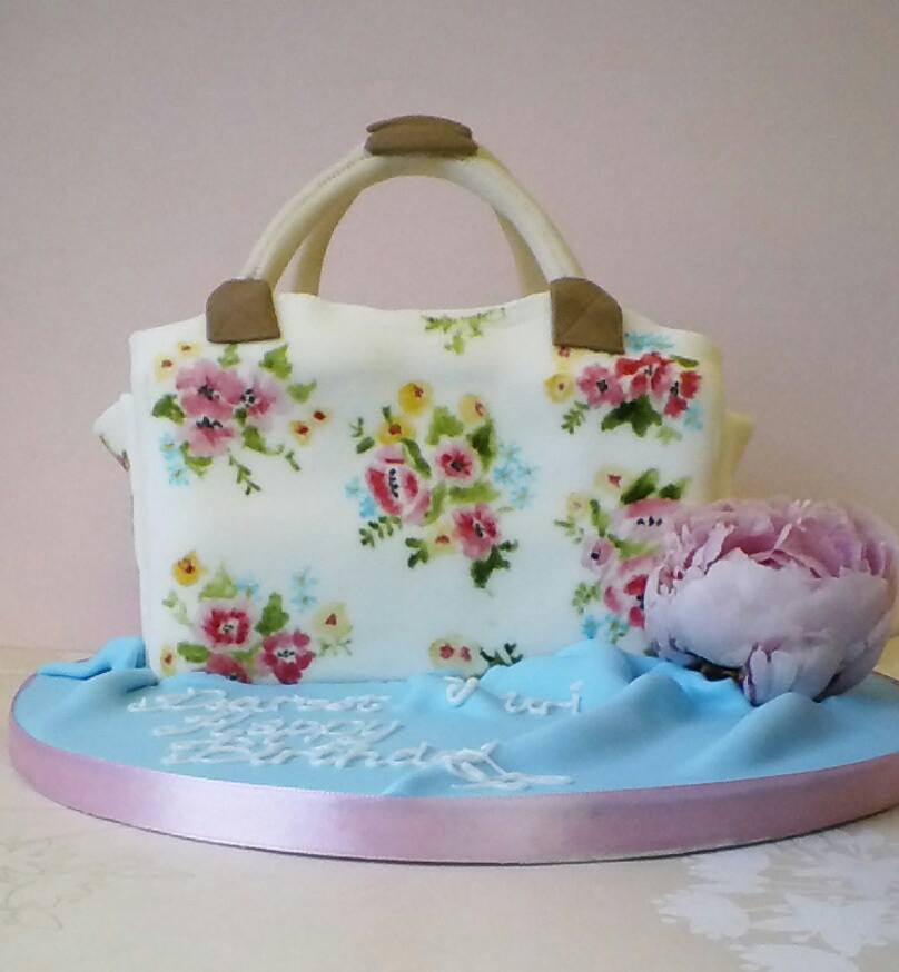 Handpainted handbag cake