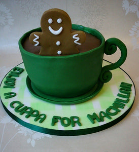 Teacup cake MacMillan coffee morning