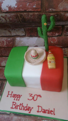 Mexican theme cake