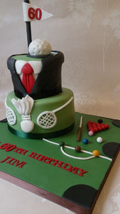 Multisport mens cake
