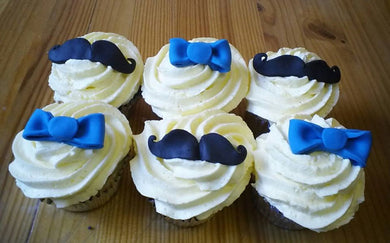 Mustaches and Bow ties cupcakes