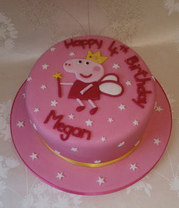 Princess Peppa round cake