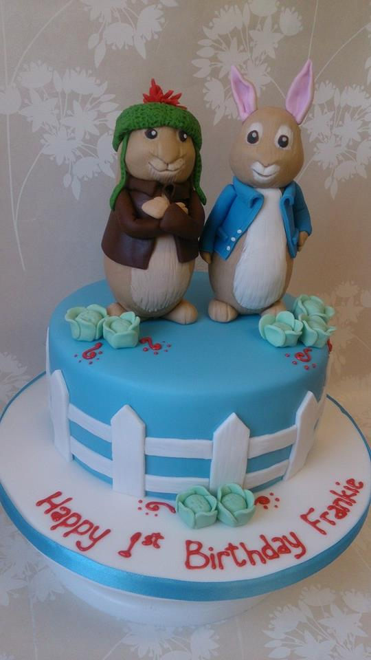 Peter rabbit and Benjamin bunny cake