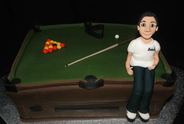 Pool / Snooker table cake