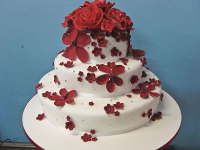 Rose and flower blossom cake