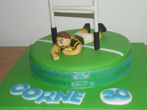 Rugby score a try cake