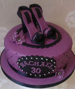 Shoes and flowers cake