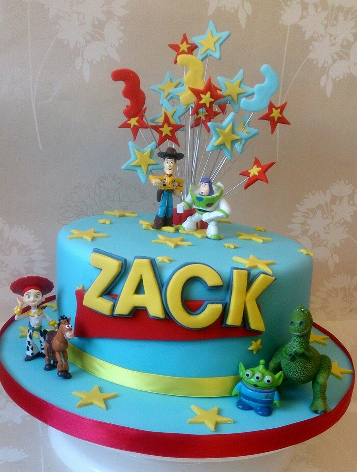 Toy story explosion cake