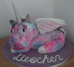 3D Unicorn toy cake