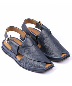 blue light weight peshawari chappal for men