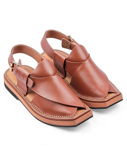 brown kaptaan Peshawari Chappal for men