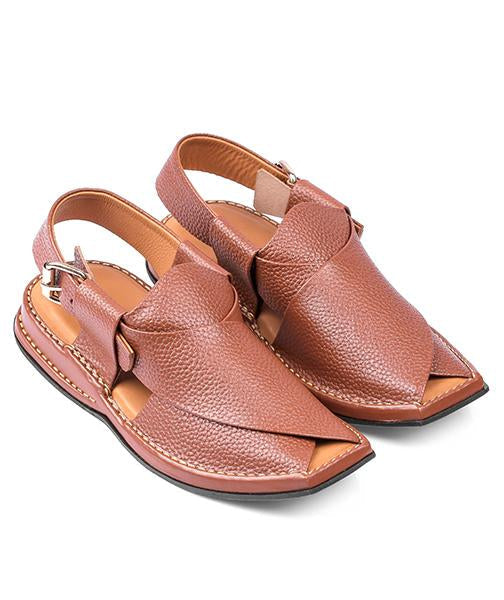 brown lightweight Peshawari Chappal for men