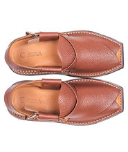 Load image into Gallery viewer, brown leather sole Peshawari Chappal specially design for men