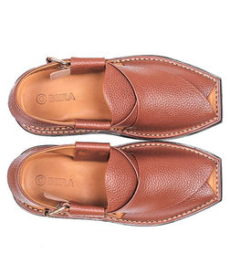 brown leather sole Peshawari Chappal specially design for men
